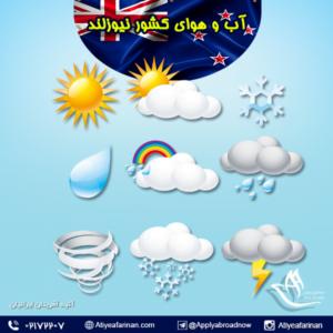 آب و هوای کشور نیوزلند