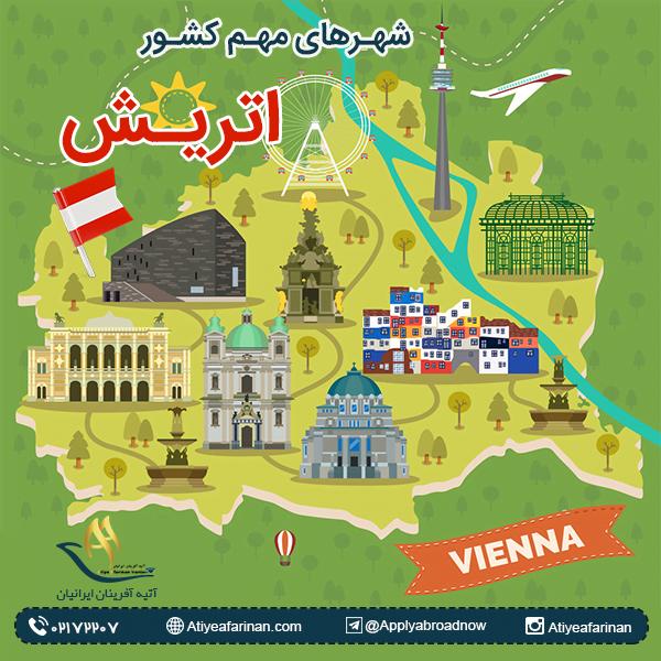 شهرهای مهم کشور اتریش