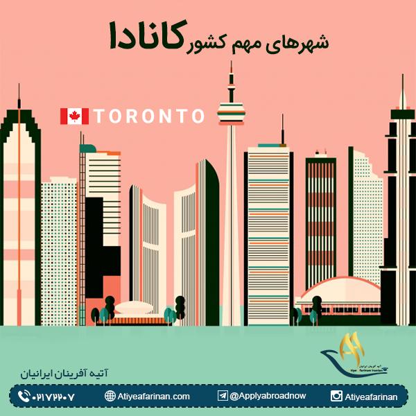 شهرهای مهم کشور کانادا