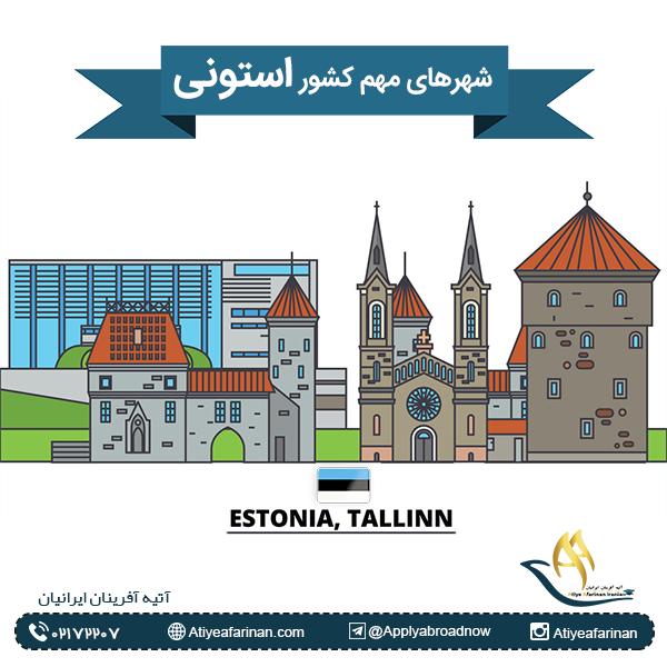 شهرهای مهم کشور استونی