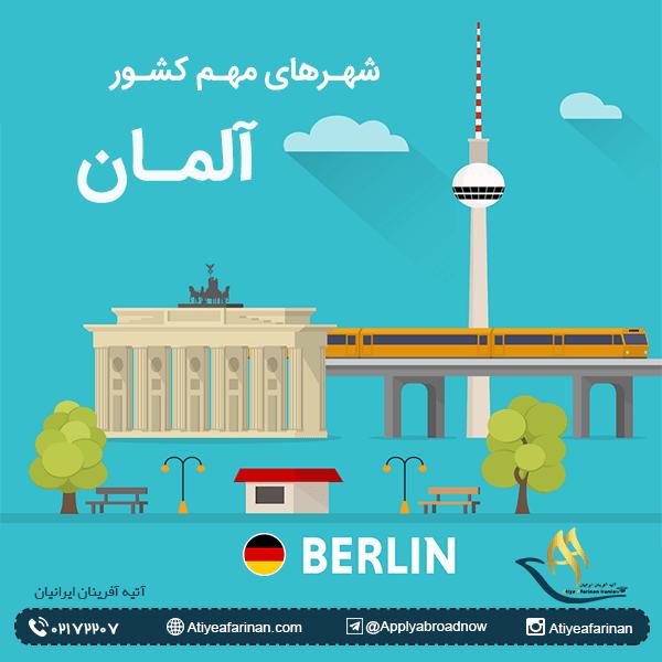 شهرهای مهم کشور آلمان