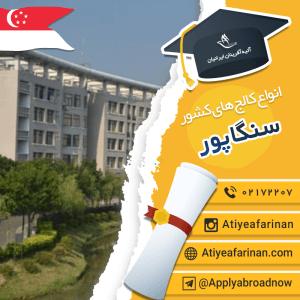 انواع کالج های کشور سنگاپور