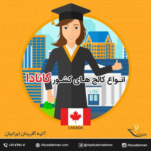 انواع کالج های کشور کانادا