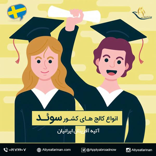 انواع کالج های کشور سوئد