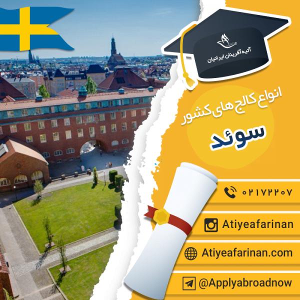 انواع کالج های سوئد