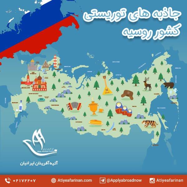 جاذبه های توریستی کشور روسیه
