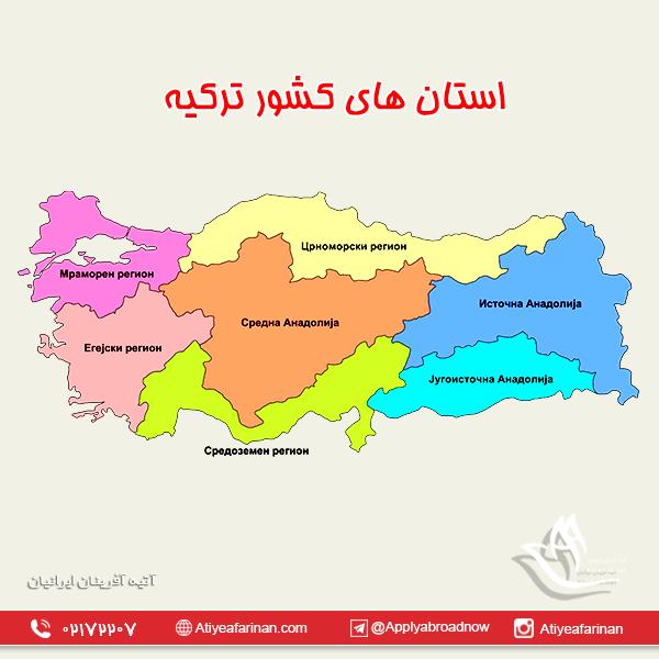 استان های کشور ترکیه