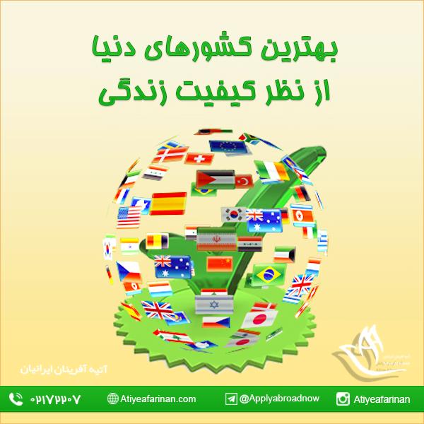 بهترین کشورهای دنیا از نظر کیفیت زندگی
