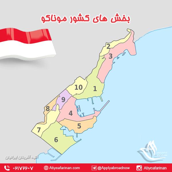 بخش های کشور موناکو