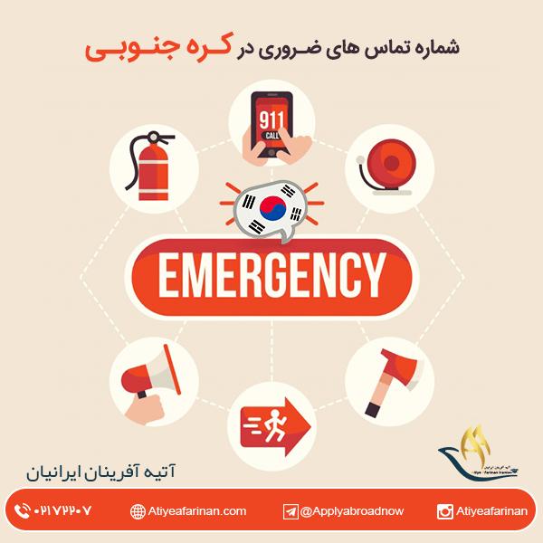 شماره تماس های ضروری در کره جنوبی