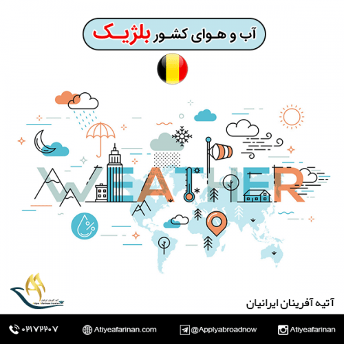 آب و هوای کشور بلژیک