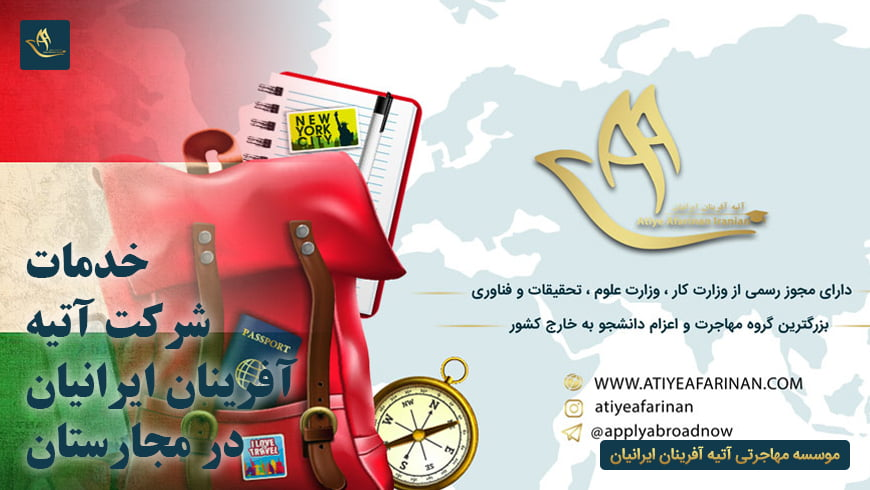 خدمات شرکت آتیه آفرینان ایرانیان در کشور مجارستان