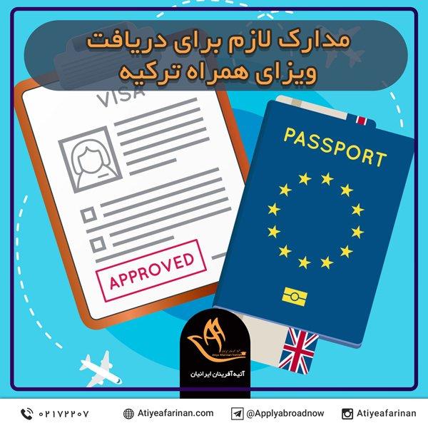 مدارک لازم برای دریافت ویزای همراه ترکیه