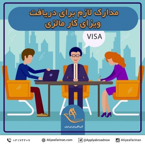 مدارک لازم برای دریافت ویزای کار مالزی