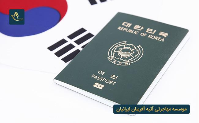 پاسپورت کشور کره جنوبی | دریافت پاسپورت کره جنوبی از طریق دریافت ویزای کاری کشور کره جنوبی | اقامت کره جنوبی