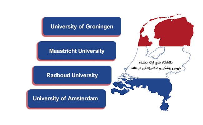 دانشگاه های ارائه دهنده دروس پزشکی و دندانپزشکی هلند