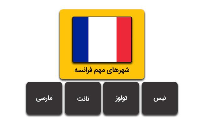 شهرهای مهم فرانسه