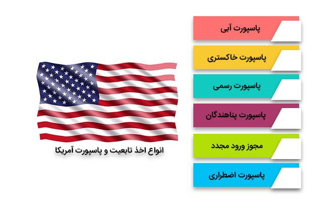 مهاجرت اقامت کاری آمریکا   انواع اخذ تابعیت و پاسپورت آمریکا
