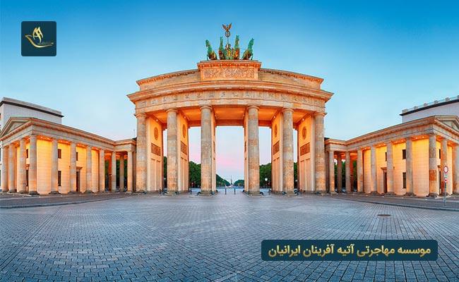 جاذبه های توریستی کشور آلمان   دروازه براندنبورگ برلین آلمان